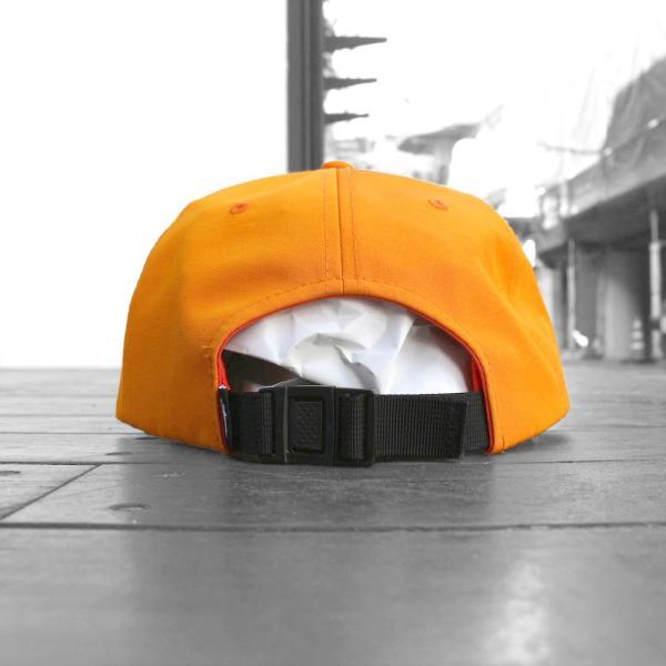 ステューシー ストック ロゴ ストラップバック キャップ オレンジ 帽子 / STUSSY STOCK LOGO STRAPBACK CAP [ORANGE]|breaks-general-store|03