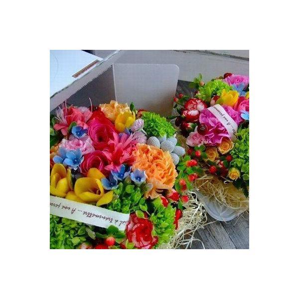 フラワーケーキ タルト  誕生日 記念日 出産祝 お祝 アレンジメント サプライズプレゼント BOX付き 5号サイズ