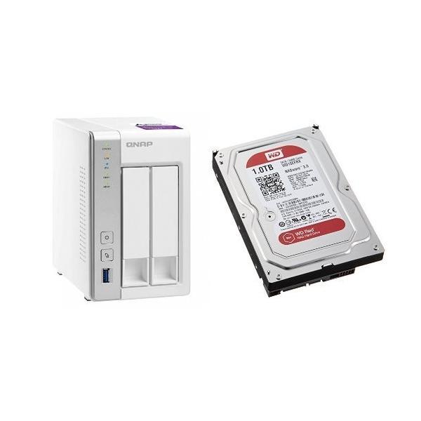 セット買い:NASキット+WD Red HDD 1TB 1台QNAP(キューナップ) TS-231P + WD Red 1TB NAS用 W|breezeisnice