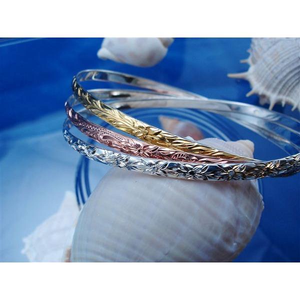 ハワイアンジュエリー バングル 3カラー 3連 美しく気品ただようアロハなジュエリー Silver925|breezyisland|03
