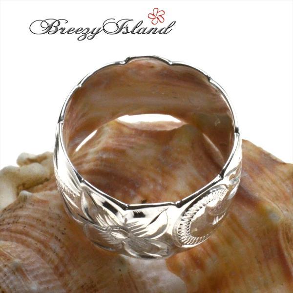 ハワイアンジュエリー 指輪 プルメリア スクロール リング