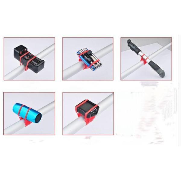 高弾性シリコン マルチバンド マルチホルダー ライト固定 自転車 6色 |brezza01|04