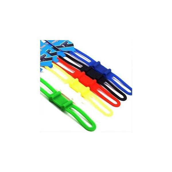 高弾性シリコン マルチバンド マルチホルダー ライト固定 自転車 6色 |brezza01|05