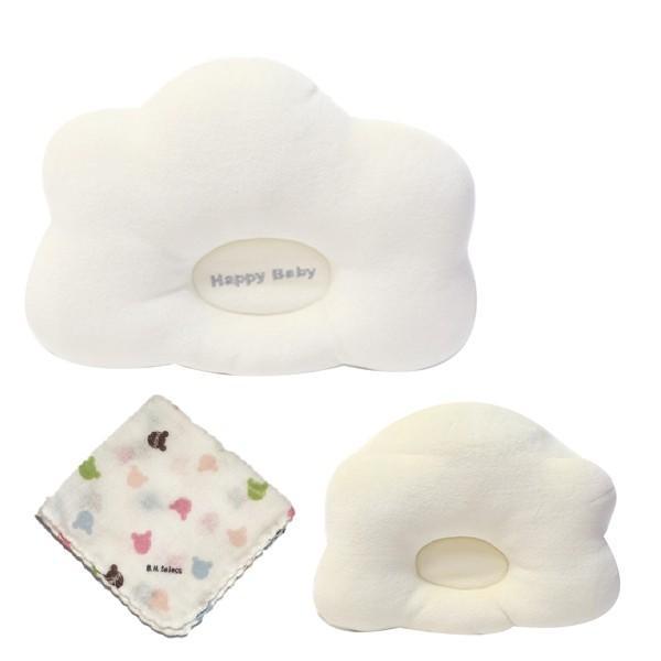 ベビー 枕 赤ちゃん まくら 頭の形整える ドーナツ枕 絶壁防止 向き癖 ハンドタオルセット|brickhouse