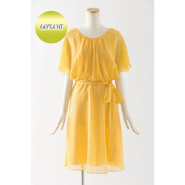 d04fcd5771ce9 黄色の可愛いショートドレス ブライズメイドドレス 結婚式 ゲストドレス パーティードレス アウトレット セール ...