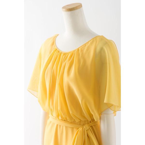 50c4d3b94612a ... 黄色の可愛いショートドレス ブライズメイドドレス 結婚式 ゲストドレス パーティードレス アウトレット セール ...