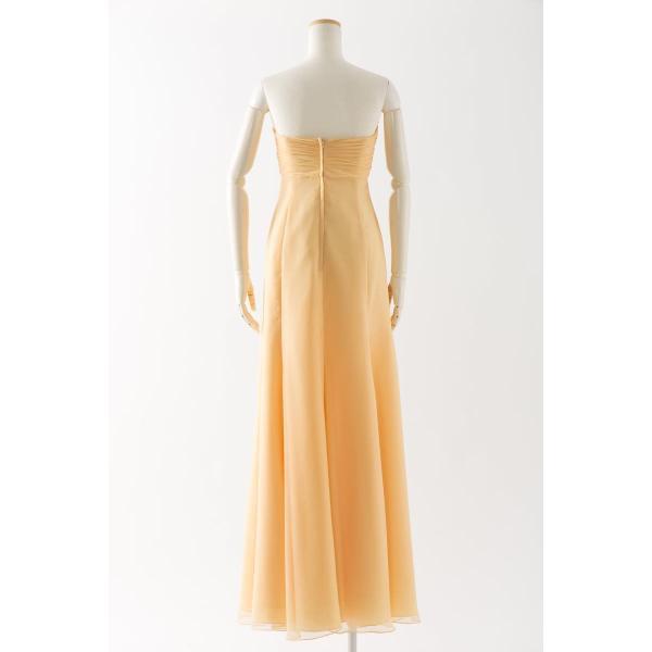 86eaffdcd20ef ... 黄色のロングドレス 大人 大きいサイズ カラードレス 演奏会 パーティー ビスチェ 謝恩会 結婚 ...