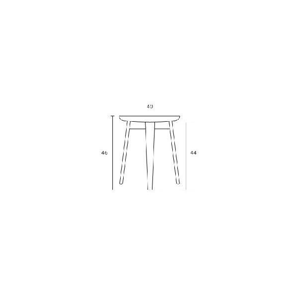 木製 センターテーブル サイドテーブル/ロータス (北欧 ミッドセンチュリー)|bridge-online|06