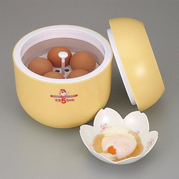 温泉たまご器 たま5ちゃん 温泉卵 ゆで卵 調理器具 調理器 温泉たまご器 温泉卵作り器 調理 温泉卵器 時短 温泉卵メーカー 卵 玉子 母 敬老の日