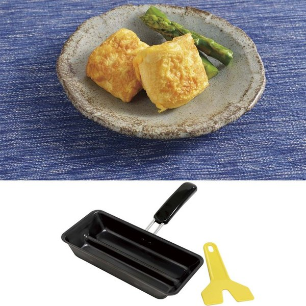 [全品8%OFFくらしの応援クーポン] フライパン 卵焼き用フライパン ヘラ付き 包丁のいらない玉子焼き 卵焼き器 玉子焼き お弁当 弁当 卵焼き|bridge|04