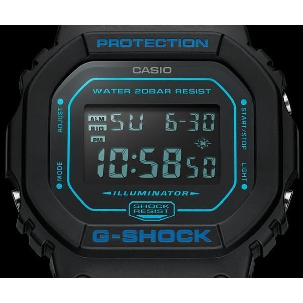 CASIO G-SHOCK カシオ Gショック メンズ腕時計 ベーシックモデル ブラック 海外モデル DW-5600BBM-1|bright-bright|05