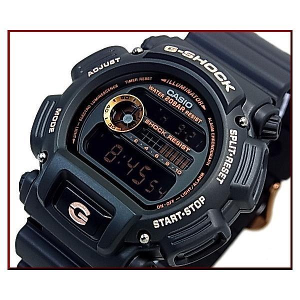 CASIO G-SHOCK カシオ Gショック BASIC ベーシック ブラック/ローズゴールド 海外モデル DW-9052GBX-1A4|bright-bright|06