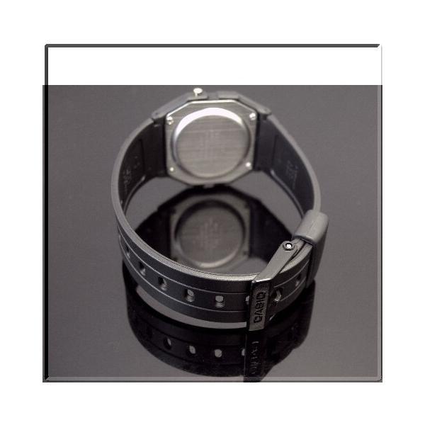 CASIO Standard カシオ スタンダード アラームクロノグラフ ペアウォッチ 腕時計 デジタル液晶モデル ブラックラバーベルト 海外モデル F-91WG-9Q/LA-20WH-4A
