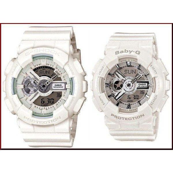 CASIO / G-SHOCK / Baby-G カシオ / Gショック /ベビーG ペアウォッチ アナデジ 腕時計 ホワイト 国内正規品 GA-110BC-7AJF/BA-110-7A3JF bright-bright