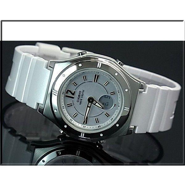 CASIO / Wave Ceptor カシオ / ウェーブセプター レディース腕時計 ソーラー電波腕時計 ホワイト ラバーベルト LWA-M142-7AJF 国内正規品|bright-bright|02