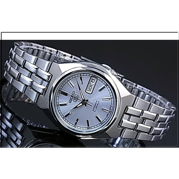 SEIKO / SEIKO5 セイコー5 / セイコーファイブ ペアウォッチ 自動巻腕時計 メタルベルト シルバー文字盤 海外モデル SNK299K1/SYM787K1|bright-bright|02