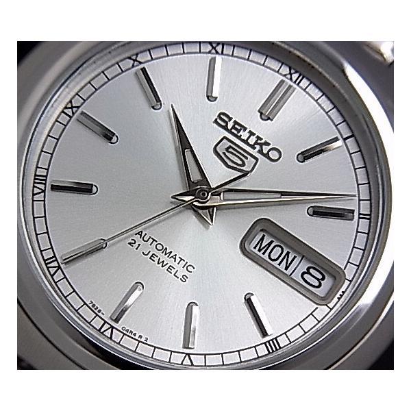 SEIKO / SEIKO5 セイコー5 / セイコーファイブ ペアウォッチ 自動巻腕時計 メタルベルト シルバー文字盤 海外モデル SNK299K1/SYM787K1|bright-bright|06