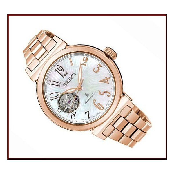 SEIKO LUKIA セイコー ルキア レディース腕時計 自動巻 シェル文字盤 ピンクゴールドメタルベルト MADE IN JAPN 海外モデル SSA836J1