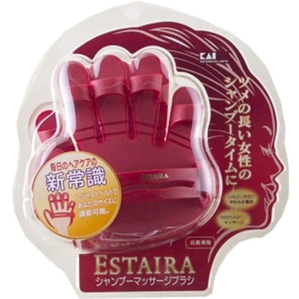 貝印 ESTAIRA シャンプーマッサージブラシ HB0702 頭皮を優しくマッサージして美しい髪に|bright08|03