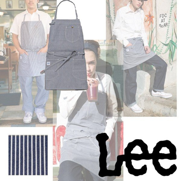 Lee 2WAYエプロン LCK79006 ホワイト×ブルー フリーサイズ 胸当てエプロン・腰巻きエプロン2WAY仕様 bright08 03