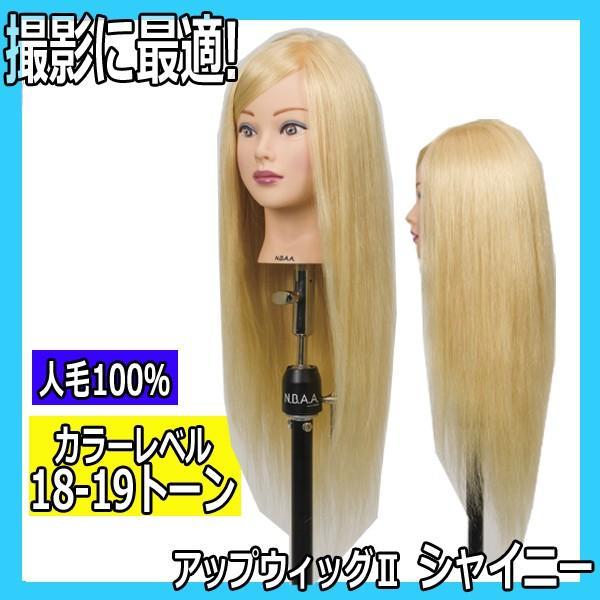 N.B.A.A. アップウィッグII シャイニー NB-WU2S 人毛100% キラキラ輝く髪 アップスタイルの練習、撮影におすすめマネキン NBAA bright08