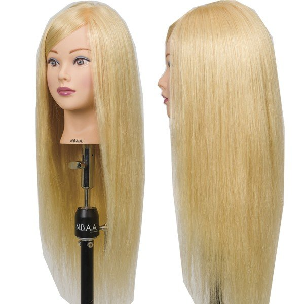N.B.A.A. アップウィッグII シャイニー NB-WU2S 人毛100% キラキラ輝く髪 アップスタイルの練習、撮影におすすめマネキン NBAA bright08 02