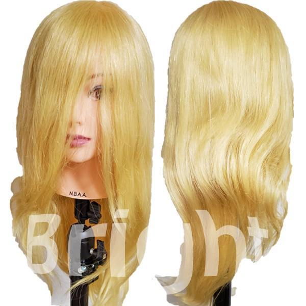 N.B.A.A. アップウィッグII シャイニー NB-WU2S 人毛100% キラキラ輝く髪 アップスタイルの練習、撮影におすすめマネキン NBAA bright08 04