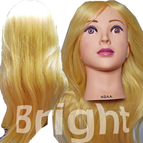 N.B.A.A. アップウィッグII シャイニー NB-WU2S 人毛100% キラキラ輝く髪 アップスタイルの練習、撮影におすすめマネキン NBAA bright08 05