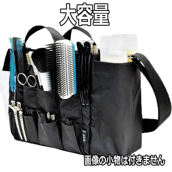 アイビル スタジオバッグ ブラシ、ヘアピン、ダッカール、シザー、スプレー、メイク用品収納 ヘアメイクバッグ AIVIL bright08 03