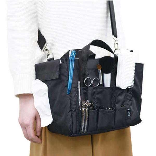 アイビル スタジオバッグ ブラシ、ヘアピン、ダッカール、シザー、スプレー、メイク用品収納 ヘアメイクバッグ AIVIL bright08 05
