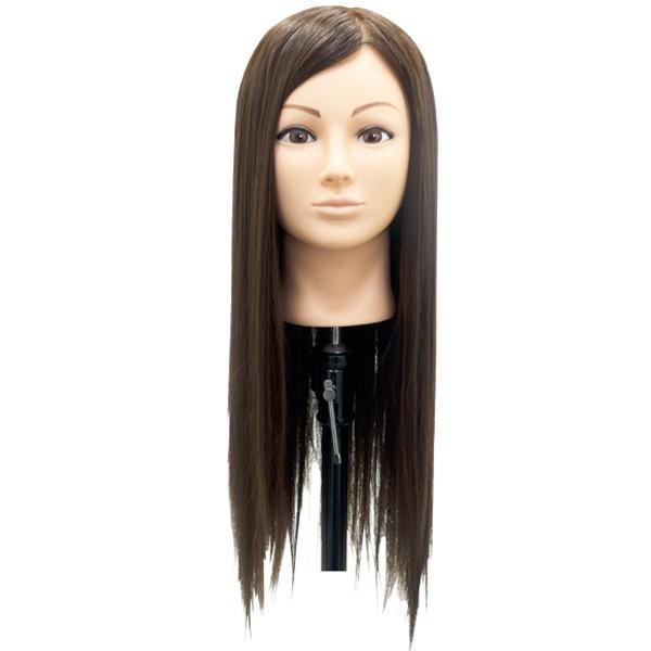 カットマネキン エミリー ファイバー毛100% 散髪・カット練習に カットウィッグ/マネキンヘッド|bright08|02