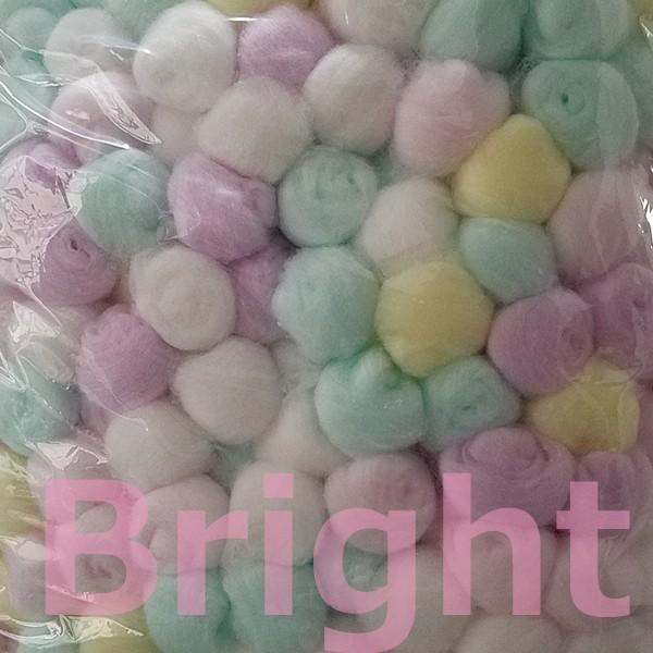 業務用 カラーコットンボール 1000球 アソート 白鶴綿業 ネイル用コットン|bright08|02