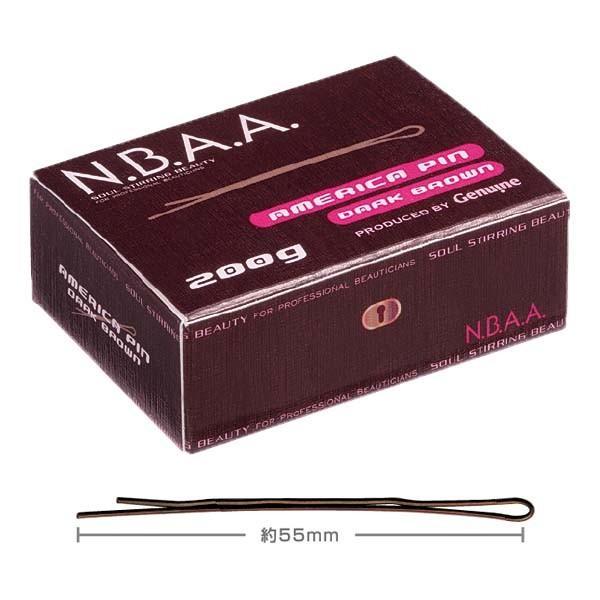 N.B.A.A. アメリカピン ダークブラウン NB-P01 約55mm 200g エヌビーエーエー 平留め/外留め/ヘアアレンジ/ヘアピン/アップスタイル NBAA|bright08|02