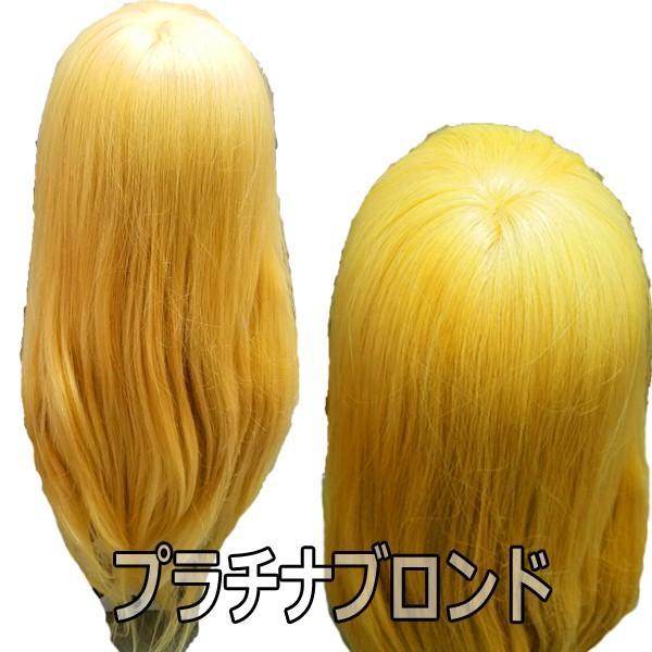セットアップウィッグ・人毛100%・髪色プラチナブロンド N.B.A.A. NB-WU2PB 日本髪OK!編み込み、浴衣スタイル、和装など|bright08|03
