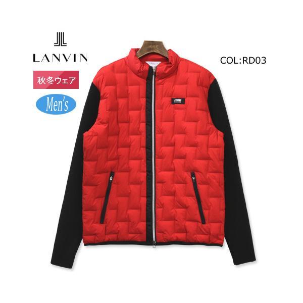 ランバン LANVIN VMQ6071X8 メンズ 長袖 ブルゾン 中綿 保温 ストレッチ ゴルフウェア スポーツウェア