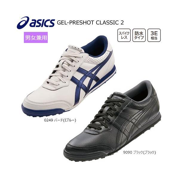 アシックス(asics) 男女兼用 ゲルプレショット クラシック 2 (GEL-PRESHOT CLASSIC 2) スパイクレス ゴルフシューズ TGN915 インポートモデル