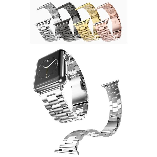 Apple Watch バンド ステンレス 鋼製 スチール 耐久性 錆びにくい 頑丈 高級 バンド 3珠 アップルウォッチ 簡単取り付け brightcosplay 06