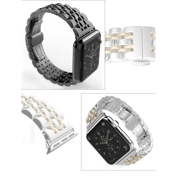 Apple Watch バンド アップルウォッチ Apple Watch Series 3 ステンレススチール バンド 7珠 高級 ステンレスベルト Apple Watch Series 2 バンド 42mm (宅)|brightcosplay|03