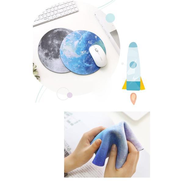 マウスパッド おしゃれ プラネット 天体観測 宇宙 パソコン 丸型 ライト レーザー&光学式マウス対応マウスパッド かわいい マウス バット (DM)|brightcosplay|06