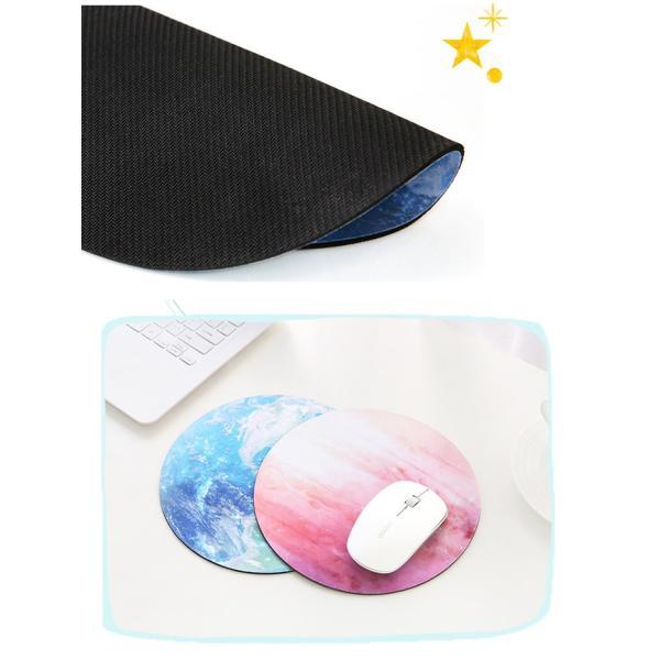 マウスパッド おしゃれ プラネット 天体観測 宇宙 パソコン 丸型 ライト レーザー&光学式マウス対応マウスパッド かわいい マウス バット (DM)|brightcosplay|07