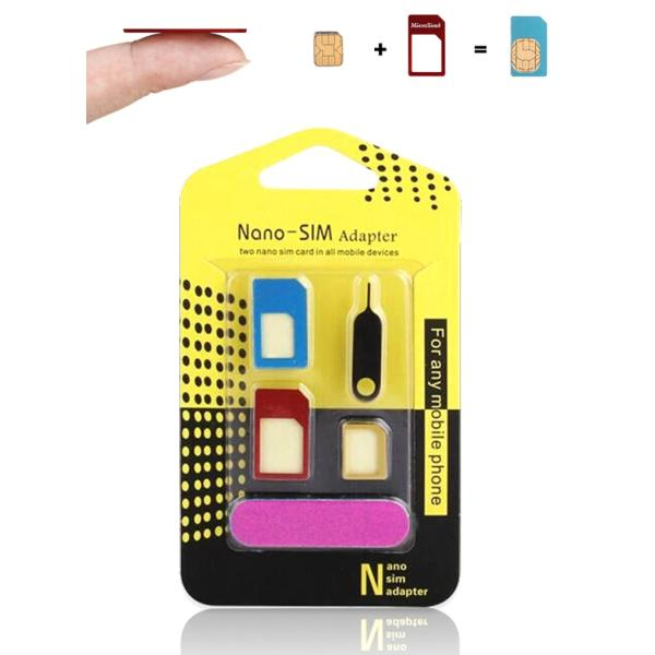 【アルミ SIMカード 変換アダプタ 5点セット】NanoSIM MicroSIM For iPhone 5 4S 4 NanoSIM→SIM 変換アダプター|brightcosplay|04