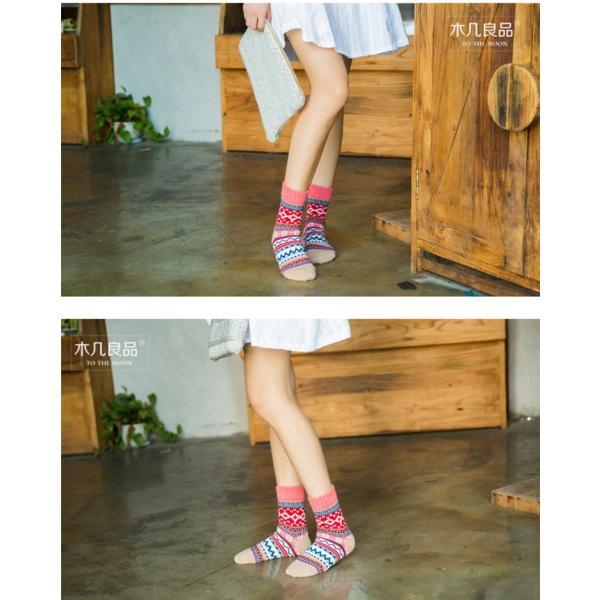 (レディース 靴下)(暖かい)ジャカード柄ソックス 靴下 ロークルーソックス カラフル かわいいソックス 冷えとりソックス 靴下 レディース おしゃれ (DM)|brightcosplay|02
