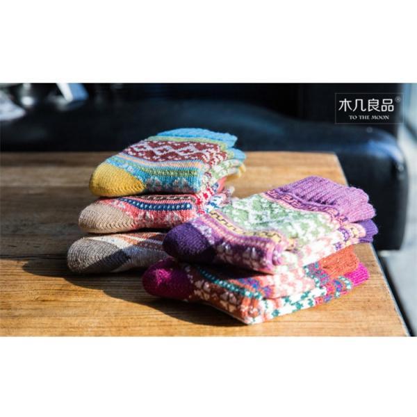 (レディース 靴下)(暖かい)ジャカード柄ソックス 靴下 ロークルーソックス カラフル かわいいソックス 冷えとりソックス 靴下 レディース おしゃれ (DM)|brightcosplay|05