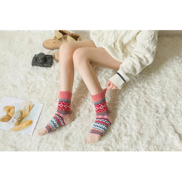 (レディース 靴下)(暖かい)ジャカード柄ソックス 靴下 ロークルーソックス カラフル かわいいソックス 冷えとりソックス 靴下 レディース おしゃれ (DM)|brightcosplay|06