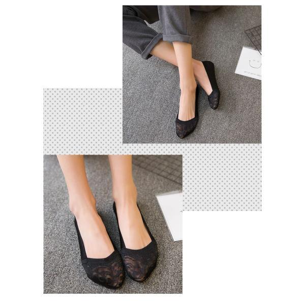 2足セット 靴下 レディース 脱げない フットカバー レース 刺繍 丈夫 パンプスソックス 滑り止め 脱げにくい レース  靴下 くつした 履きやすい 歩きやすい|brightcosplay|12