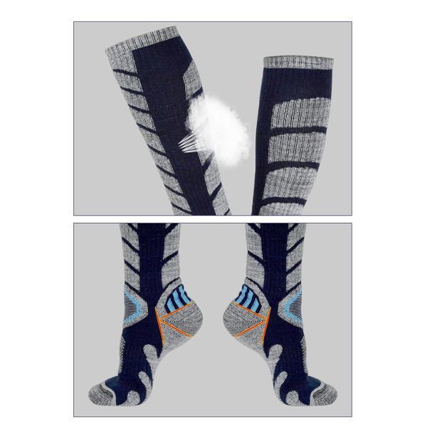 ハイソックス アウトドア スノーボード ソックス ロング 登山 レディース メンズ スノーボード スキー トレッキング ふくらはぎ丈 ウォーキング ソックス|brightcosplay|04