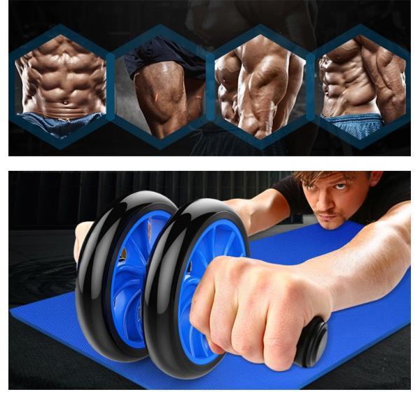 腹筋ローラー スリムトレーナー 超静音 ペアリングハンドル ダイエット アブホイール 膝を保護するマット付き トレーニング マッサージ soomloom正規品|brightcosplay|02
