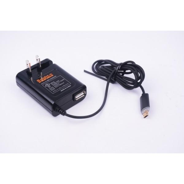 LED付き 両面挿しmicro-USB ACアダプター|brightonnetshop|02