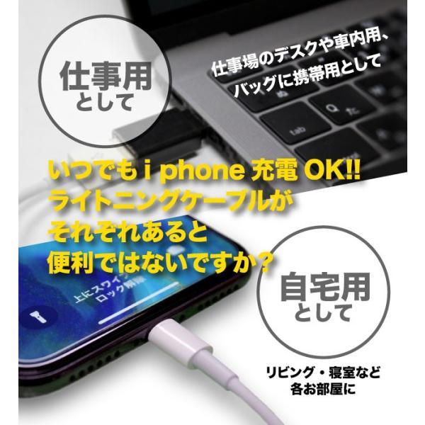 ライトニングケーブル  1m  Apple MFI認証  FOXCONN製  純正品相当バルク品 iPhone/iPad充電/同期 USBケーブル 送料無料 30日保証|brillerjapan|02