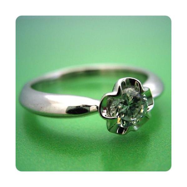 婚約指輪エンゲージリング0.3カラット一粒0.3ctダイヤモンドブライダルジュエリープラチナ結婚指輪マリッジリングリーフデザイン伏せこみタイプの婚